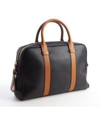 Tom Ford Black and Caramel Leather Large Tote Bag - Lyst