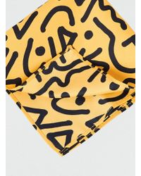 LAC - Yellow Graphic Squiggle Pocket - Lyst