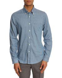 Gant Rugger Chambray Luxury Indigo Shirt - Lyst