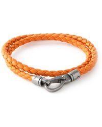 Tod's Orange Braided Bracelet - Lyst