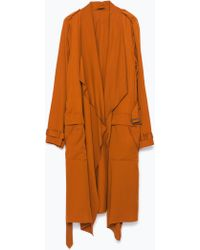Zara Loose-Fit Trench Coat - Lyst