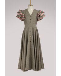 JOUR/NÉ - Ruffled Sleeve Linen Dress - Lyst
