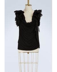 Givenchy - Jersey Sleeveless Top - Lyst