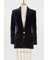 Balmain - Velvet Oversize Jacket - Lyst