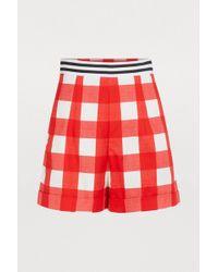 Stella Jean - Cotton Plaid Shorts - Lyst