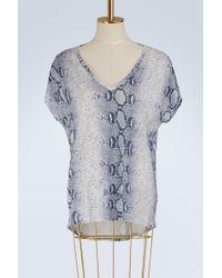 Majestic Filatures - Oversize V-neck T-shirt - Lyst