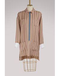 Esteban Cortazar - Striped Shirt-dress - Lyst