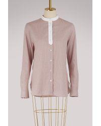 Maison Kitsuné - Thea Mandarin Cotton Shirt - Lyst