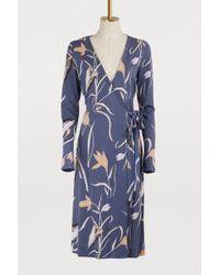 Diane von Furstenberg - Short Floral Print Dress - Lyst