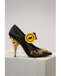 Prada - Embroidered Court Shoes - Lyst