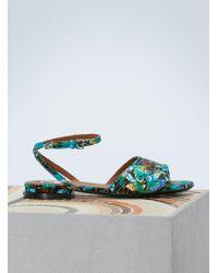 KENZO | Leather Flat Daria Sandals | Lyst