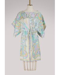 Emilio Pucci - Miami Printed Silk Dress - Lyst