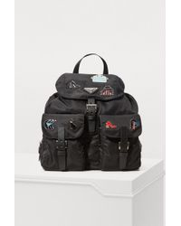 Prada - Pins Nylon Backpack - Lyst
