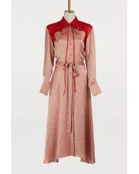 Nina Ricci - Bicolor Satin Dress - Lyst
