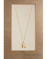 Louis Vuitton - Lv & Me Necklace, Letter R - Lyst