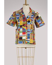 Stella Jean - Camicia Cotton Shirt - Lyst