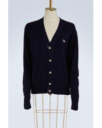 Maison Kitsuné - Virgin Wool Cardigan - Lyst