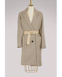 Vanessa Bruno - Iambo Belted Cotton-tweed Coat - Lyst
