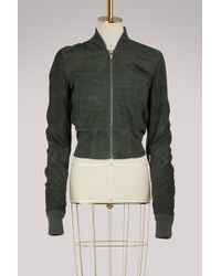 Rick Owens - Leather Bomber Jacket - Lyst