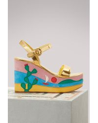 Prada - Plateform Sandals - Lyst