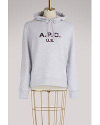 A.P.C. - U.s. Cotton Hoodie - Lyst