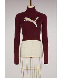 PUMA - Long Sleeve Loose Turtleneck Sweater - Lyst