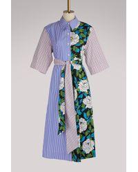 Diane von Furstenberg   3/4 Sleeved Midi Dress   Lyst