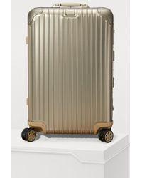 Rimowa - Topas Titanium Multiwheel Electronic Tag Luggage - 67l - Lyst