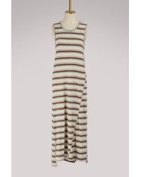 James Perse - Sleeveless Striped Dress - Lyst