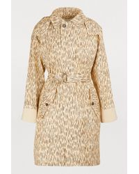 Chloé - Printed Trench Coat - Lyst