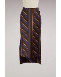 AALTO - Bimaterial Skirt Stripes - Lyst
