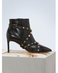 Valentino - Studs Wrap Boots - Lyst