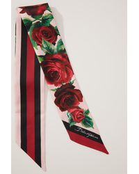 Dolce & Gabbana Halsschleife aus Seide Roses - Rot