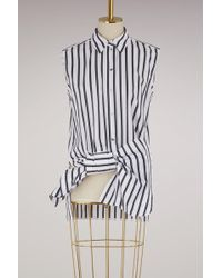 Victoria, Victoria Beckham - Sleeveless Bow Shirt - Lyst