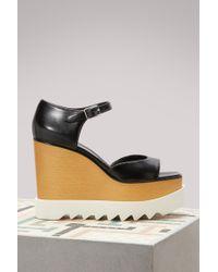 Stella McCartney | Elyse Wedge Sandals | Lyst