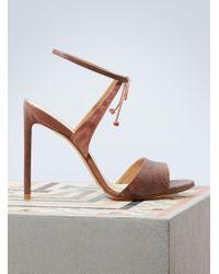 Francesco Russo - Satin Karung Sandals - Lyst