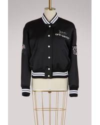 Off-White c/o Virgil Abloh - Embroidered Varsity Jacket - Lyst
