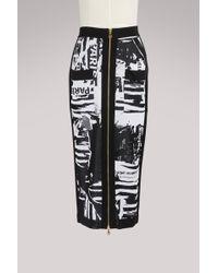 Balmain - Zippered Midi Skirt - Lyst
