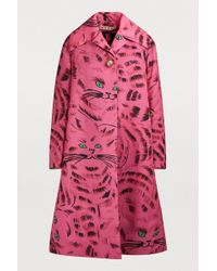 Marni - Oversized Cat-print Coat - Lyst