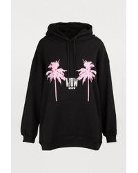 MSGM - Sweat à capuche palmiers - Lyst