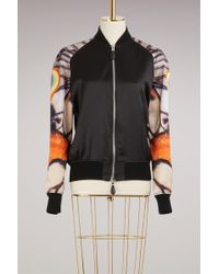 Givenchy - Silk Bomber Jacket With Butterfly Print - Lyst