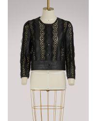 Vanessa Bruno - Leather Short Iveo Jacket - Lyst
