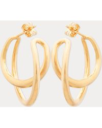 Charlotte Chesnais - Initial Hoop Earrings - Lyst