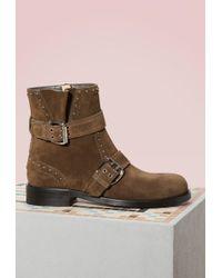 Jimmy Choo - Blyss Leather Biker Boots - Lyst