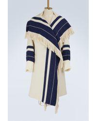 Chloé - Striped Knit Coat - Lyst