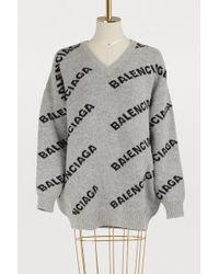 Balenciaga - Long Sleeved Knit - Lyst