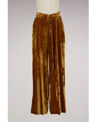 Roberto Collina - Silk Velvet Large Pant - Lyst