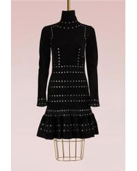 Alexander McQueen - Turtle Neck Mini Dress - Lyst