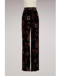 Etro - Large Velvet Trousers - Lyst