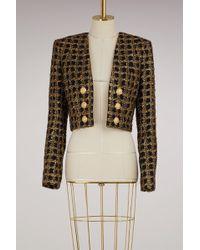 Balmain - Tweed Short Jacket - Lyst